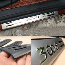 Door Sill Scuff Stainless Outside Plate Protector FOR Peugeot 3008 GT 2016 ~2018