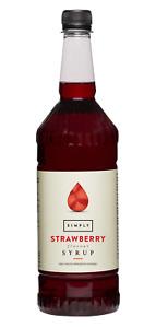 Simply Luxury Natural Flavour Sirup Erdbeere 1L, Aroma, Kochen, Backen, Desserts