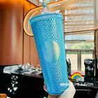 Starbucks 2020 China Baby Blue Studded Cute Rabbit Topper Cold Water Cup Tumbler