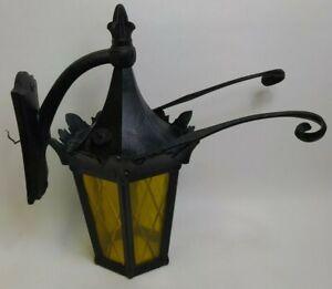Gothic Wrought Iron Porch Outdoor Light Fixture Arts Craft Witch Unique Tudor