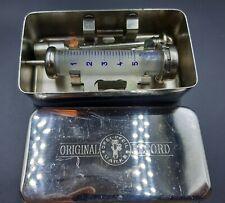 Vintage medical  syringe reusable German Original Record 5 ml interchangeable.