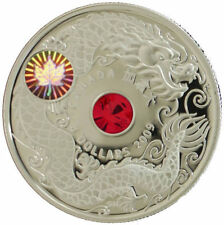 Canada 2009 $8 Maple of Wisdom Sterling Silver Coin - Chinese Dragon COA & Box