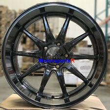 XXR 527D Wheels 20 Chromium Black Rims Staggered 5x114.3 Fits Infiniti G35 Coupe