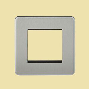 Screwless Data/Euro Faceplates, 1,2 & 4 Gang, Chrome, Brass, Black Nickel & Matt