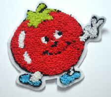 rouge Pomme Fruit Tomate PELUCHE brodé à coudre Vêtement patch badge applique