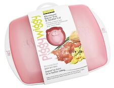 Joie Piggy Wiggy Microwave Oven Bacon Tray Cooker Splatter whit Lid Kitchen NEW