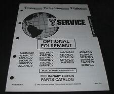 Parts Catalog OMC Cobra Optional Equipment Ersatzteilkatalog Stand August 1992!