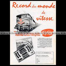 GEGE Train Electrique HO MISTRAL SNCF BB 9240 (1961) : Pub Publicité Ad #A1175