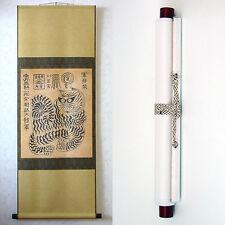 Wall Hanging Scroll Folk Art Decor Charm Tiger Painting