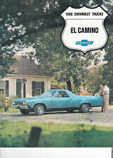 1968 Chevy El Camino With SS396 Trim Levels, Slick 3-Fold USA Sales Brochure