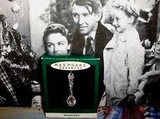 Vision Of Sugarplums`1993`Miniature -A Pewter Spoon,Hallmark Christmas Ornament