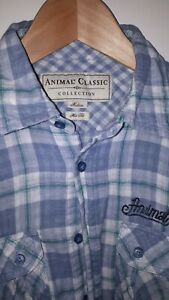 Mens casual shirt medium animal cotton cheesecloth soft good condition