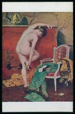 art Montassier nude big butt woman sandal original 1910s Salon de Paris postcard