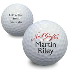Personalised No 1 Golfer Golf Ball Keepsake Birthday Fathers Day