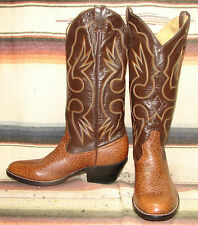Vintage Honchos Brown Antelope / Leather Cowboy Boots Mens 7.5 D Womens 9 M NEW