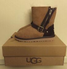 UGG Girls Size 13 YOUTH Brown BLAISE Sheepskin Winter Boots 1004138K Chestnut