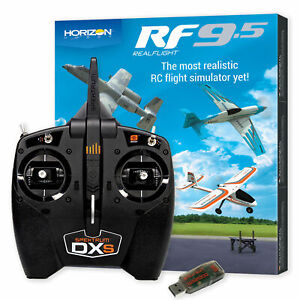 RealFlight 9.5 RC Airplane Flight Simulator Combo with Spektrum DXS and WS2000