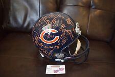 2011 Chicago Bears Team Autographed Signed Helmet Urlacher Retirement Year