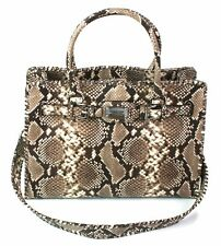 Whipped Hamilton Natural Piel De Serpiente Michael Kors en relieve de cuero bolso de
