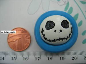Jack Skellington Halloween Silicone Mould/Mold Sugarpaste, Cupcake Toppers