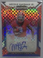 2019 Prizm Draft Picks Mecole Hardman Jr RC Red White & Blue Auto Refractor /99