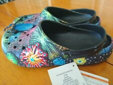 Crocband Fireworks light Clog Black Relaxed Fit Us Sz m 12 Unisex New