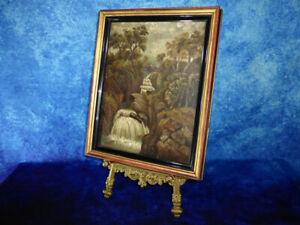 1874 Victorian School BRACKLINN FALLS (BRIDGE) Scotland - Oil Painting on Canvas