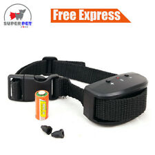 AUTOMATIC ANTI BARK VIBRATION STOP BARKING DOG TRAINING COLLAR BATTERY OPERATED