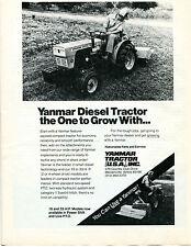 1980 Yanmar Diesel Lawn Mower Garden Tractor Print Ad Bensenville Illinois