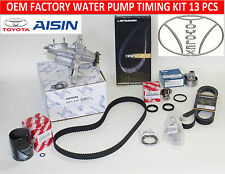 NEW LEXUS IS300 GS300 ALL OEM FACTORY COMPLETE TIMING BELT WATER PUMP KIT 13 PCS