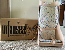 1955 VERY RARE Infanseat Co Baby Carrier Seat  Pink Polka Dot With Original Box