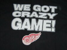 Vintage Detroit Red Wings WE GOT CRAZY GAME DON'T PUCK WITH US Men's XXL T-Shirt
