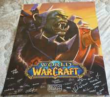 Blizzcon 2018 Official World of Warcraft WoW Signed Poster
