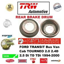 FOR FORD TRANSIT Bus Van Cab TOURNEO 2.0 2.4D 2.5 Di TD TDi 1994-2000 BRAKE DRUM