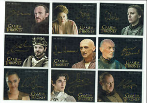 Game of Thrones Autograph Trading Card Selection Gold Signature Various Seasons