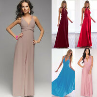 20 Colors Womens Bridemaid Gown Convertible Multi Way Wrap Party Long Maxi Dress