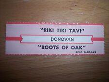 "1 Donovan Riki Tiki Tavi / Roots Of Oak Jukebox Title Strips CD 7"" 45RPM Records"