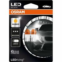 OSRAM LED W2.1x9.5d Orange Amber WY5W 501 12V 1W 2855YE-02B Car Bulbs DuoBox