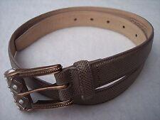 "Carlisle Womens Fashion Belt Sz S 27"" - 30"" Gray Enamel Buckle Made in USA"
