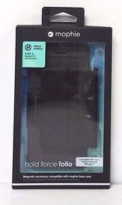 ORIGINAL Mophie iPhone 7 Hold Force Folio BLACK Card Slot Magnetic Pocket