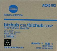 Genuine Konica Minolta BLACK TNP22K Toner Cartridge BIZHUB C35 A0X5192