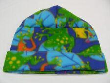 TREE FROGS - FLEECE - ONE SIZE STOCKING CAP BEANIE HAT!