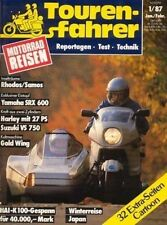 TF8701 + Test SUZUKI VS 750 Intruder + Test YAMAHA SRX 600 + Tourenfahrer 1/1987