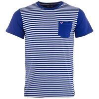 Weekend Offender Men's Birch Striped T Shirt True Blue / White