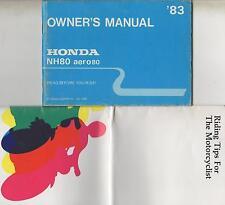 1983 HONDA MOTORCYCLE NH80 AERO80 OWNERS MANUAL (051)