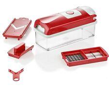 Genius Nicer Dicer kompakt rot 5 tlg. Zerkleinerer Allesschneider Hobel Schäler