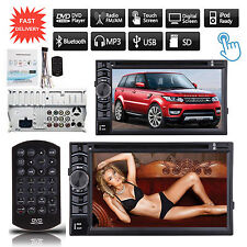 Touch Screen 2 DIN In Dash Bluetooth DVD Player Car Stereo Radio For Land Rover