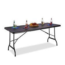 Relaxdays 10020757 46 tavolo da giardino Bastian richiudibile con Maniglia 74