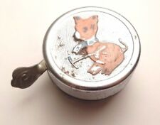 VINTAGE DING DONG PIG PIGGY BICYCLE BELL BIKE RING MADE IN ITALY