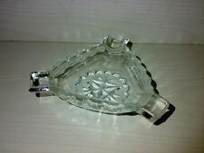 Zigarrenascher Aschenbecher Ashtray Dreieckig Montecristo ? Glas Glass Pressglas